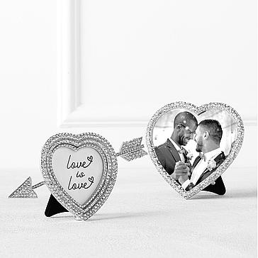 Jeweled Heart Photo Frame