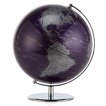 World Globe - Aubergine
