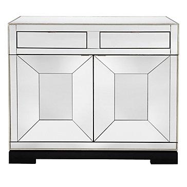 Tangent Mirrored Bar Cabinet