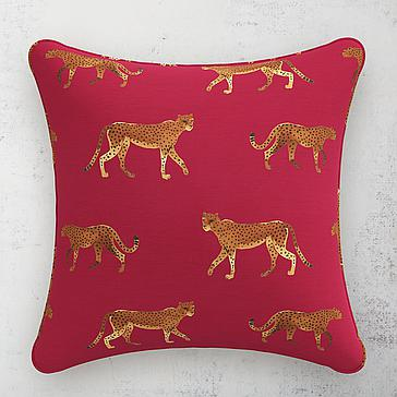 """Cheetah Walk Pillow 20"""""""