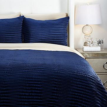 Alta Quilt Bedding Set - Sapphire