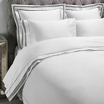 Contrast Border Bedding - Grey