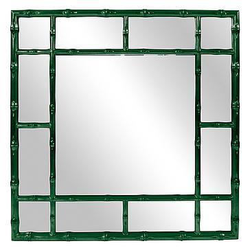 Bamboo Mirror - Glossy Hunter Green