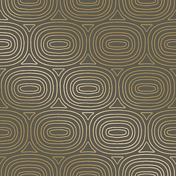 Ovals Bronze Wallpaper