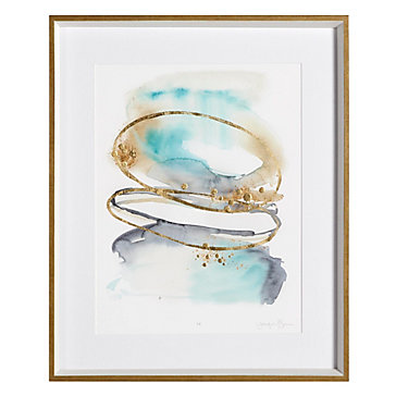 Spiral Bloom Aqua 1 - Limited Edition