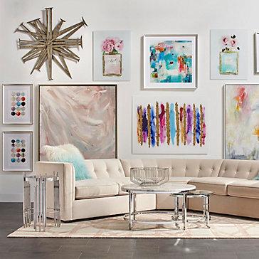 Colorful Artwork Living Room Inspiration