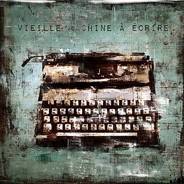 Vintage Typewriter - Glass Coat