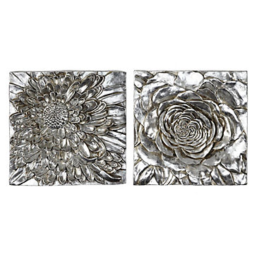 Dahlia And Peony Plaque