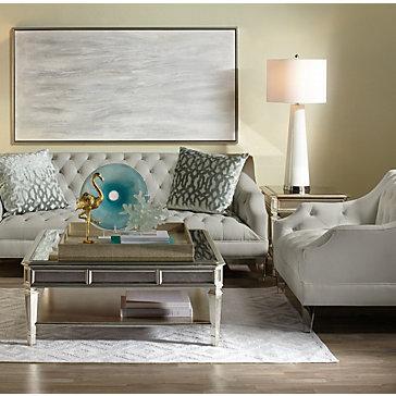 Simone White Living Room Inspiration