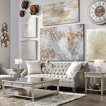 Simone Glittering Art Living Room Inspiration