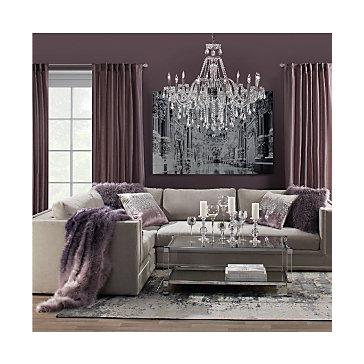 Amethyst Luka Sectional Living Room Inspiration