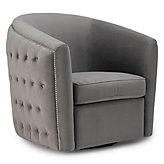 Aria Tufted Swivel Chair