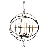 "Six-arm Chandelier 22""D (Online Only)"
