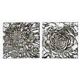 Dahlia And Peony Plaque - Set of 2